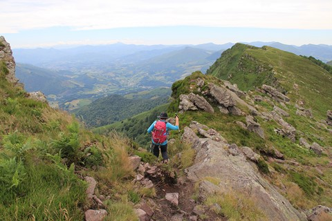 Pyrenees walking holiday France panoramic views